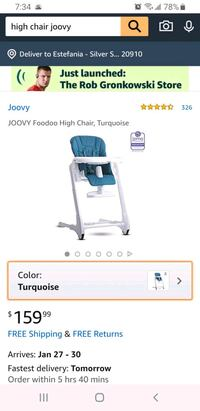 Two NEW baby highchairs