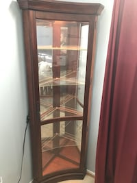 brown wooden framed glass display cabinet Temecula, 92590