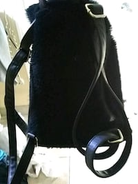 black and white leather backpack Riverdale, 30274
