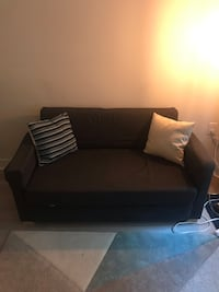Black Loveseat and Sleeper Couch.