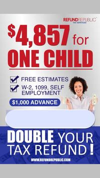 Double your tax refund!!