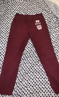 M Red Abercrombie & Fitch sweatpants w/ white patch and letters Aldie, 20105