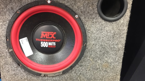 used mtx thunderpro 500 watts subwoofer for sale in hagerstown letgo. Black Bedroom Furniture Sets. Home Design Ideas