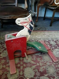 red and white wooden horse antique toy Odenton, 21113