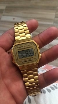 square gold Casio digital watch with link bracelet Turlock, 95380