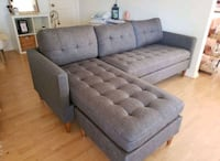 Brand New Grey Linen Sectional Sofa Couch +Pillows Silver Spring, 20910