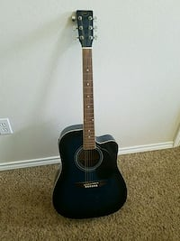 black and blue acoustic guitar Meridian, 83646