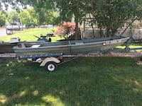 14 ft Jon boat with 7.5 hp motor and a Horse Claw trailer.   Stafford, 22554