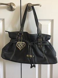 Like-new XOXO brand black satchel handbag purse Halton Hills, L7G 0B4
