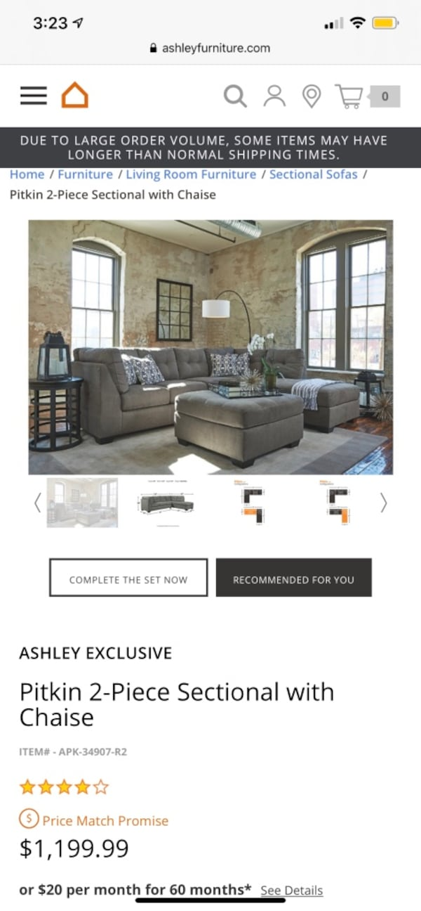 Ashley furniture Sectional, SERIOUS INQ ONLY! 2a689b82-04f7-4a40-bdfc-e29353083d3c