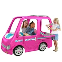 Pink Barbie Camper Battery operated vehicle.