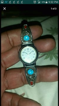 BR Navajo turquoise and silver watch Lake Worth, 33460