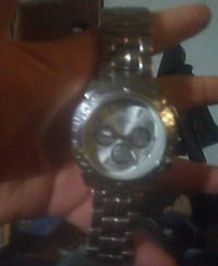 round silver chronograph watch with silver link bracelet Delhi, 95315