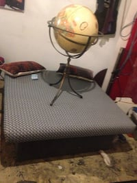 Pewter 360 degree globe stand with globe OBO Won't go lower than $125 unless you have a sick trade with it Edmonton, T5J 0A1