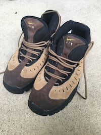 NIKE AIR ACG REGRIND Brown Leather Hiking Trail Boots Shoes Men's Size 9.5 Manassas, 20112