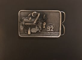 RARE Detroit Diesel Allison Vintage Belt Buckle.