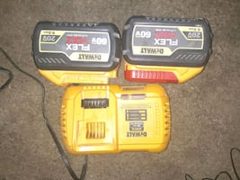 2 dewalt batteries and fast charger