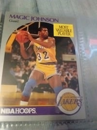 NBA Hoops Magic Johnson Los Angeles Lakers trading card
