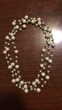 white and black beaded necklace Germantown, 20874