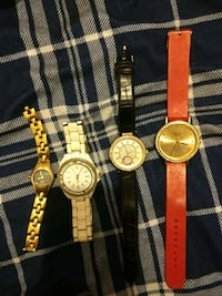 three round gold analog watches Edmonton, T5M 3L9