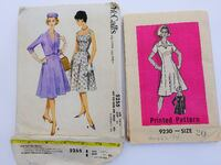 Dress patterns, 2 packages