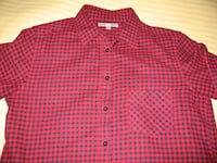 UNIQLO Black Red Check Long Sleeve Button Down Shirt Toronto