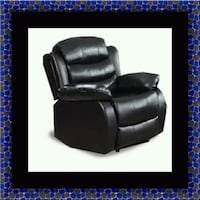 Black recliner chair Adelphi