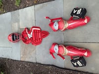 Easton baseball catchers gear.