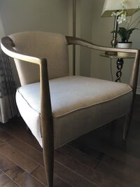 White and brown wooden armchair Dollard-des-Ormeaux, H9A 3H8