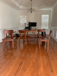 Modern all wooden table with 6 chairs Gainesville, 20155