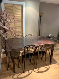 Dinning set table and six chairs