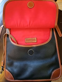 red and black leather crossbody bag Dundalk, 21222