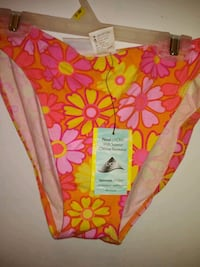 pink and yellow floral print Bathing suit Homosassa, 34448