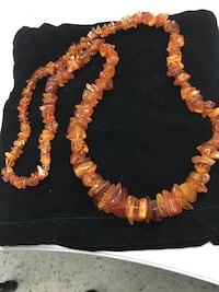 """Baltic Sea amber 34"""" necklace. Beads size from 0.28 to 1"""". Cognac color  Chicago, 60634"""
