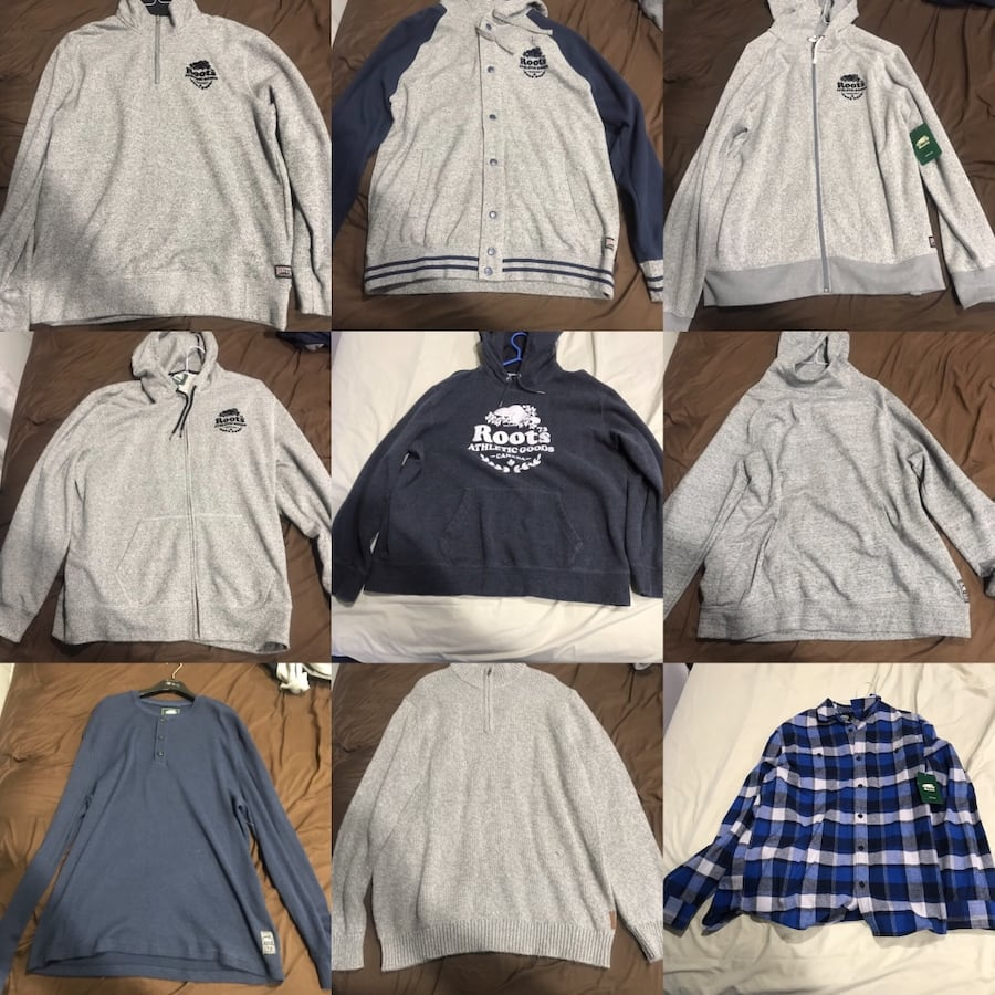 Authentic Roots Sweaters Double XL  $60 Each