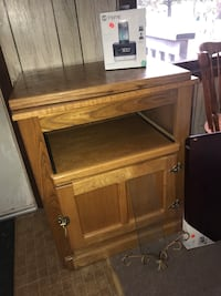 brown wooden TV hutch with cabinet Oak Grove, 55303