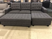 2 pcs sectional with jumbo ottoman Toronto, M5V 2T6