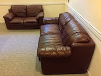 Genuine Leather 3 Piece Living Room Set Damascus