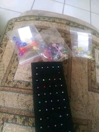 Tongue rings 3 for $5 and nose ring are 3 for $1 Bakersfield, 93301