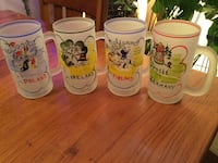 4 Vintage Frosted Mugs Georgetown, 40324
