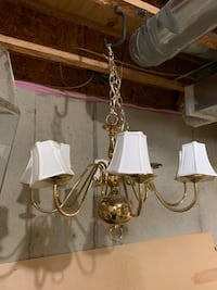 Chandelier with Linen Shades Freehold