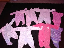 NB babygirl pajamas/onesie. No stains no rips