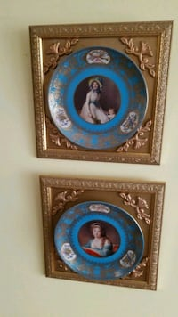 two blue and brown decorative plates Montreal, H3R 3L4
