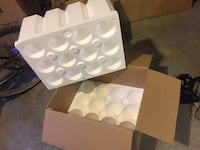 Shipping box for Wine Bottles or other bottles - with Styrofoam! Nashville