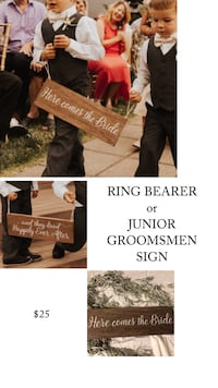 RING BEARER SIGN // WEDDING SIGN Beaverton, 97003