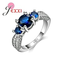 silver and blue gemstone ring Clarksville, 37042