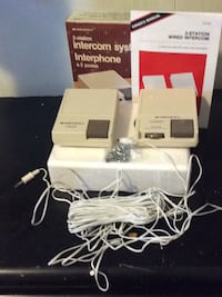 2-Station Intercom System & A PlAYSTATION 2 (one Game Controller & NO POWER CORD)Also the information for PlayStation is Under A DIFFERENT LISTING Surrey, V3V 4B6