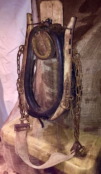 Vintage Horse Collar & Yoke with Chains--A Piece of Americana!