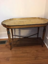 German Mid 20th Century Low Brass Tray Table  Chicago, 60647