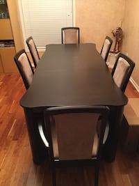 Rectangular black wooden table w/ chairs Mississauga, L5B 4G7